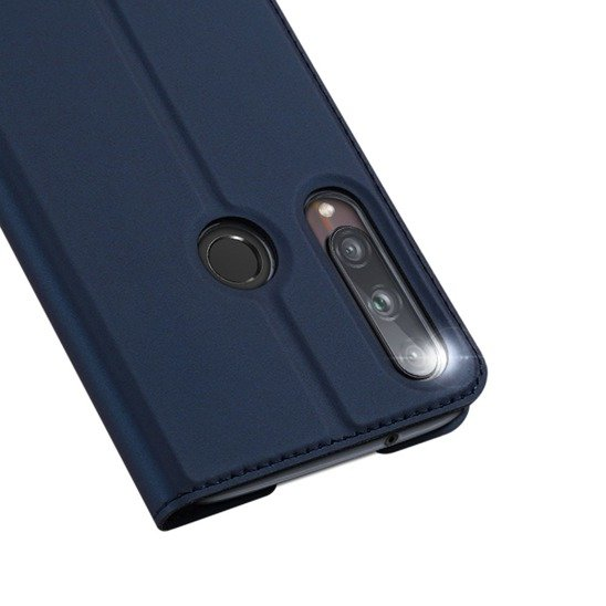 Case HUAWEI P40 LITE E with a flip Dux Ducis Skin Leather navy blue
