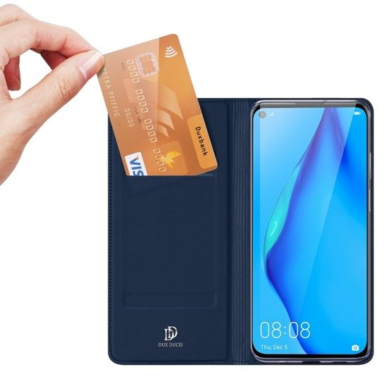 Case HUAWEI P40 LITE with a flip Dux Ducis Skin Leather navy blue