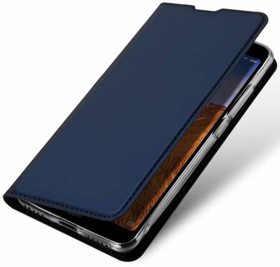Case IPHONE 7 / 8 / SE 2020 with a flip Dux Ducis Skin Leather navy blue