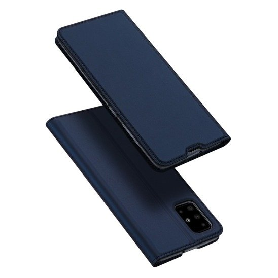 Case SAMSUNG GALAXY A51 Dux Ducis Skin Leather navy blue