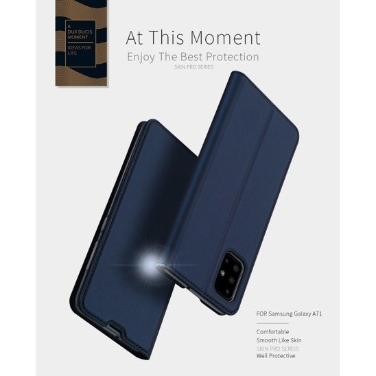 Case SAMSUNG GALAXY A71 Dux Ducis Skin Leather black