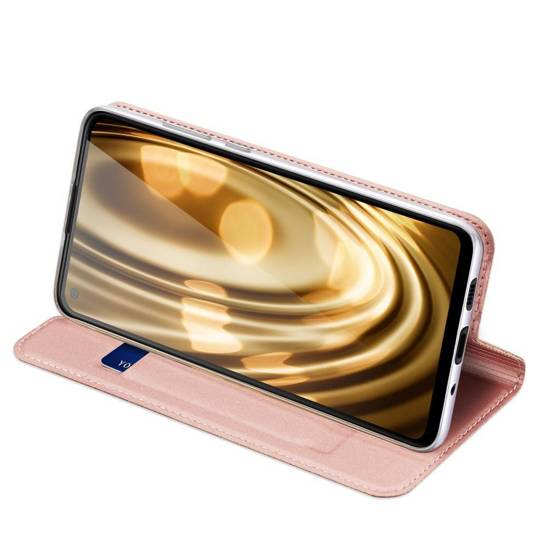Case SAMSUNG GALAXY M11 with a flip Dux Ducis Skin Leather light pink