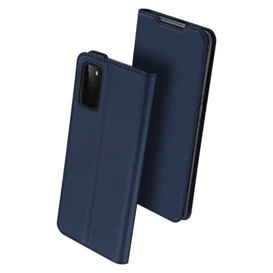 Case SAMSUNG GALAXY S20 Dux Ducis Skin Leather navy blue