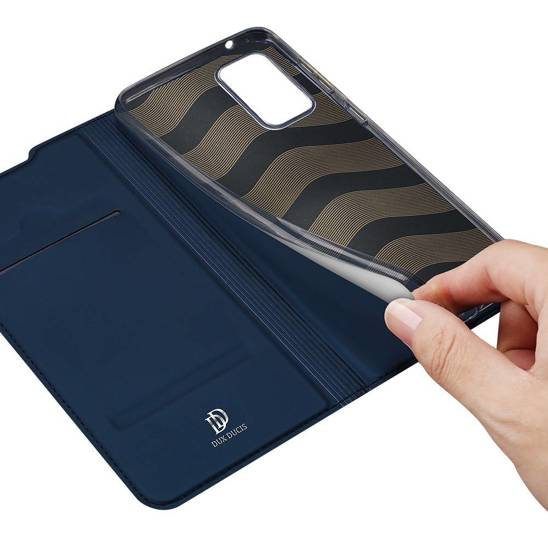 Case SAMSUNG GALAXY S20 FE / S20 LITE with a flip Dux Ducis Skin Leather navy blue