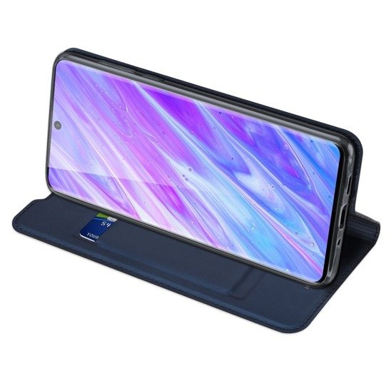 Case SAMSUNG GALAXY S20+ PLUS Dux Ducis Skin Leather navy blue
