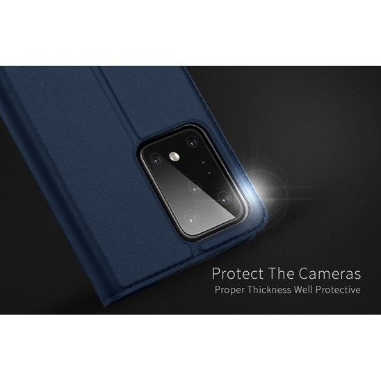 Case SAMSUNG GALAXY S20 ULTRA Dux Ducis Skin Leather navy blue