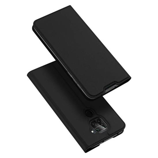 Case XIAOMI REDMI NOTE 9 / REDMI 10X with a flip Dux Ducis Skin Leather black