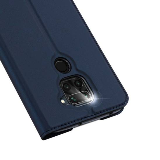 Case XIAOMI REDMI NOTE 9 / REDMI 10X with a flip Dux Ducis Skin Leather navy blue
