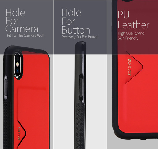 DUX DUCIS POCARD IPHONE X RED