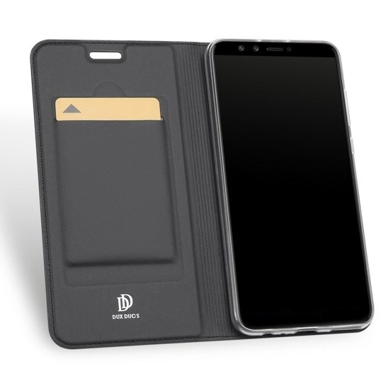DUX DUCIS SKIN LEATHER IPHONE X DARK GREY