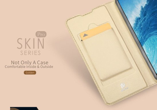 DUX DUCIS SKIN LEATHER IPHONE X GOLD
