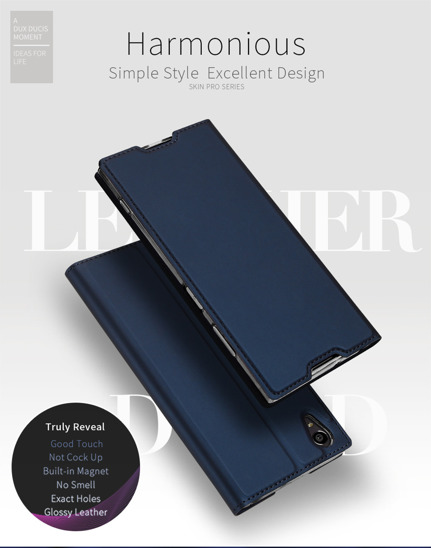 DUX DUCIS SKIN LEATHER SONY XA1 DARK BLUE