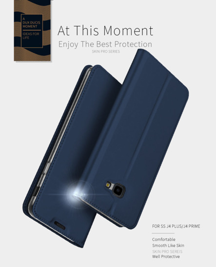 Dux Ducis skin leather case SAMSUNG A9 2018 navy blue