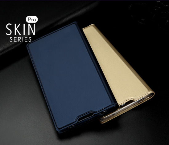 Dux ducis skin leather Sony L2 dark blue