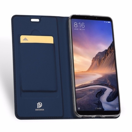 HUAWEI Y5 2019 Dux Ducis Skin Leather case with a flap navy blue