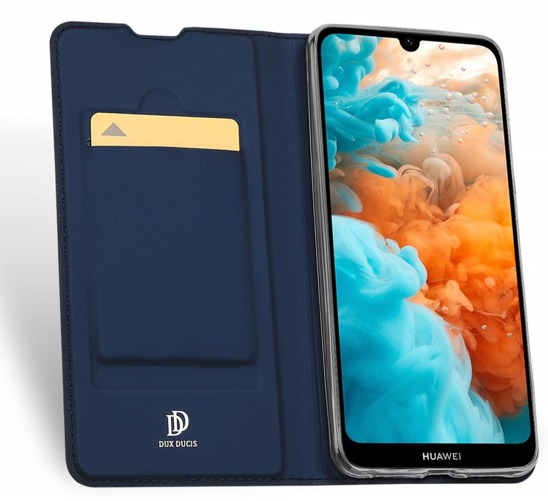 HUAWEI Y6 2019 Dux Ducis Skin Leather case navy blue