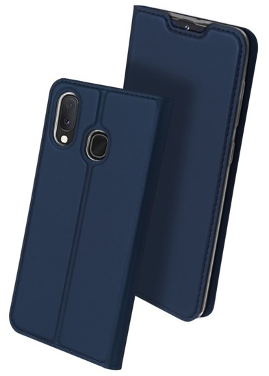 SAMSUNG GALAXY A20e Dux Ducis Skin Leather case navy blue