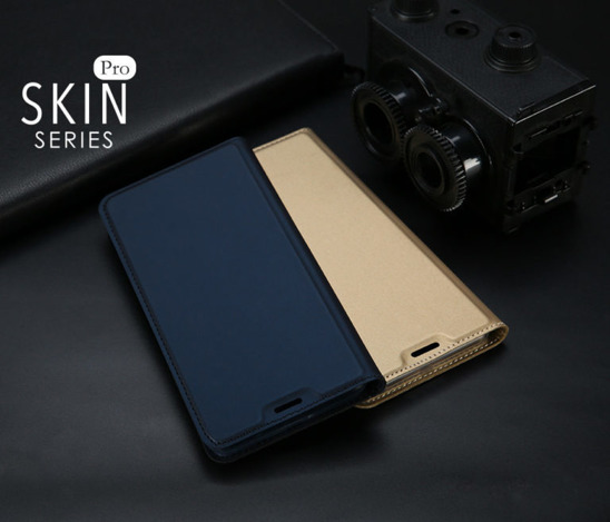 SAMSUNG GALAXY A70 Dux Ducis Skin Leather case navy blue