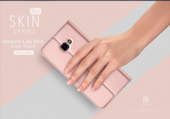 SAMSUNG GALAXY XCOVER 4S  Dux Ducis Skin Leather Flip case light pink