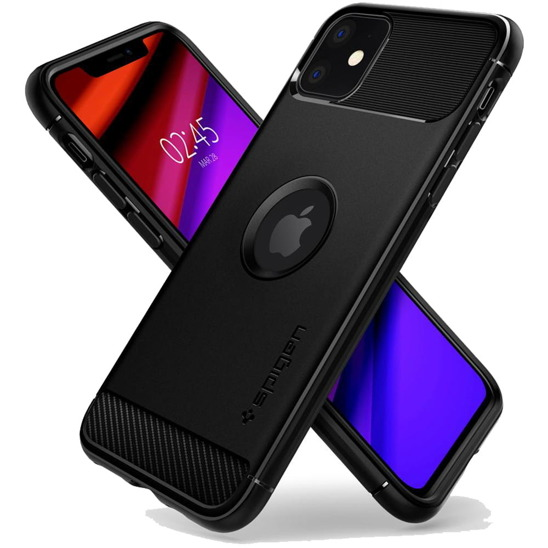 Spigen Rugged Armor case IPHONE 11 PRO MAX MATT black