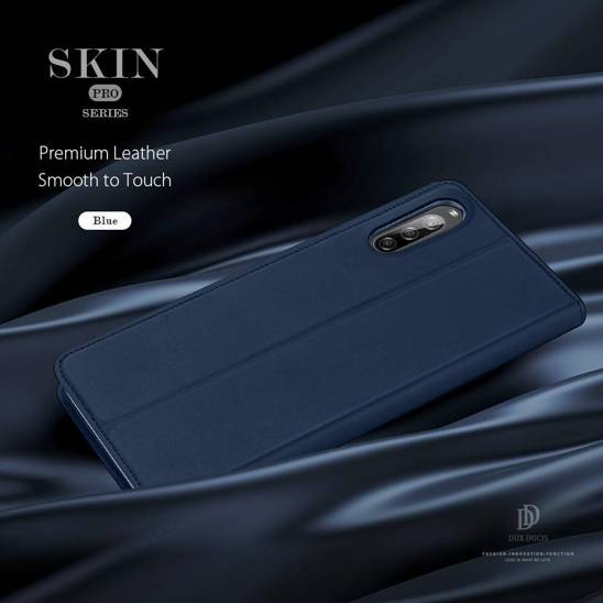 XIAOMI REDMI 9A case with a Dux Ducis Skin Leather flap navy blue