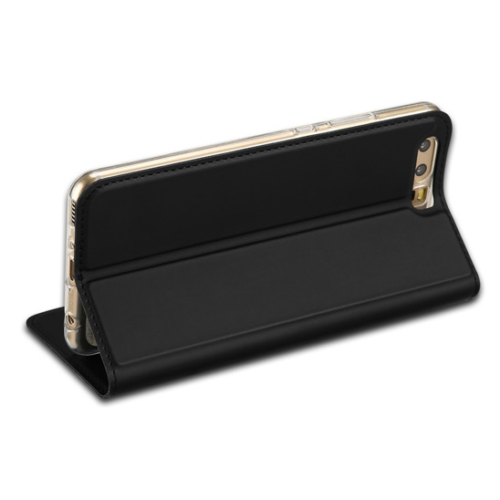 Etui Dux ducis gold pro HUAWEI P10 LITE BOOK CASE WITH CABLE czarny