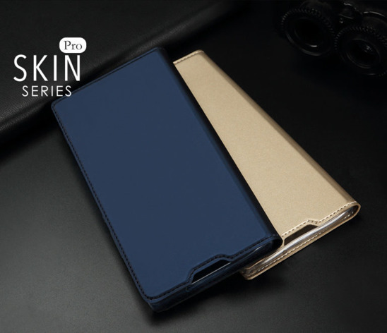 Etui portfel Dux ducis skin leather Huawei Honor 7x złoty