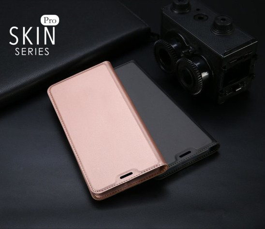 Etui portfel Dux ducis skin leather IPHONE X jasny róż